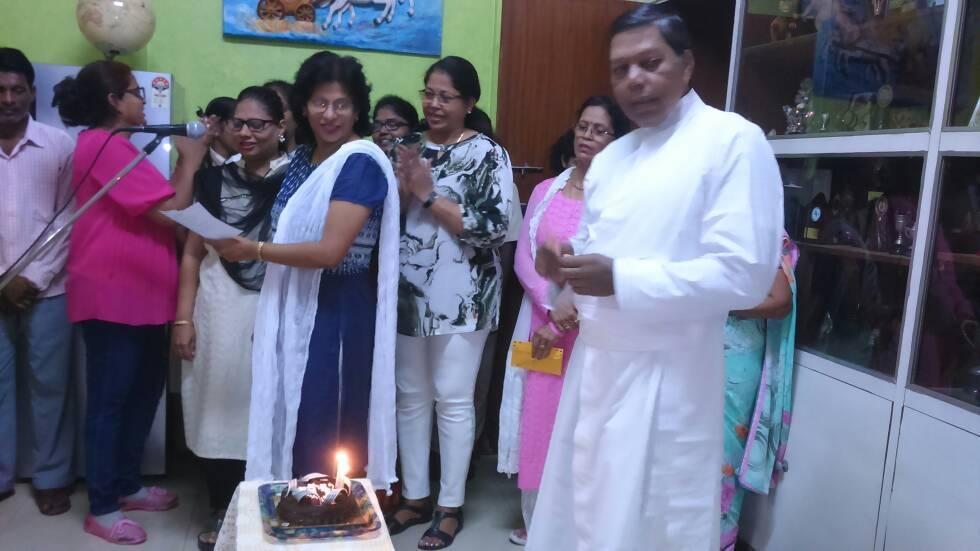Elysian Family – Celebrating the Birthday of their Manager Rev. Fr. Austin Norris.