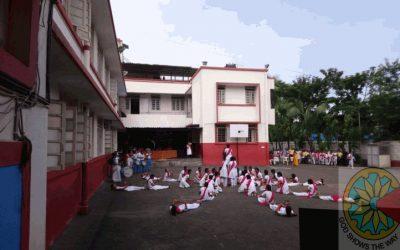 Sahashaleya Upakram H- west ward Lezim Competition