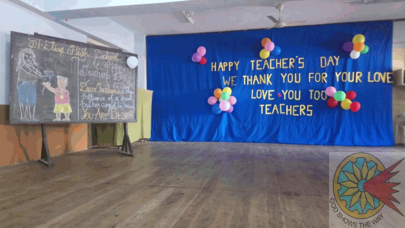 Teachers' day celebration in St. Elias