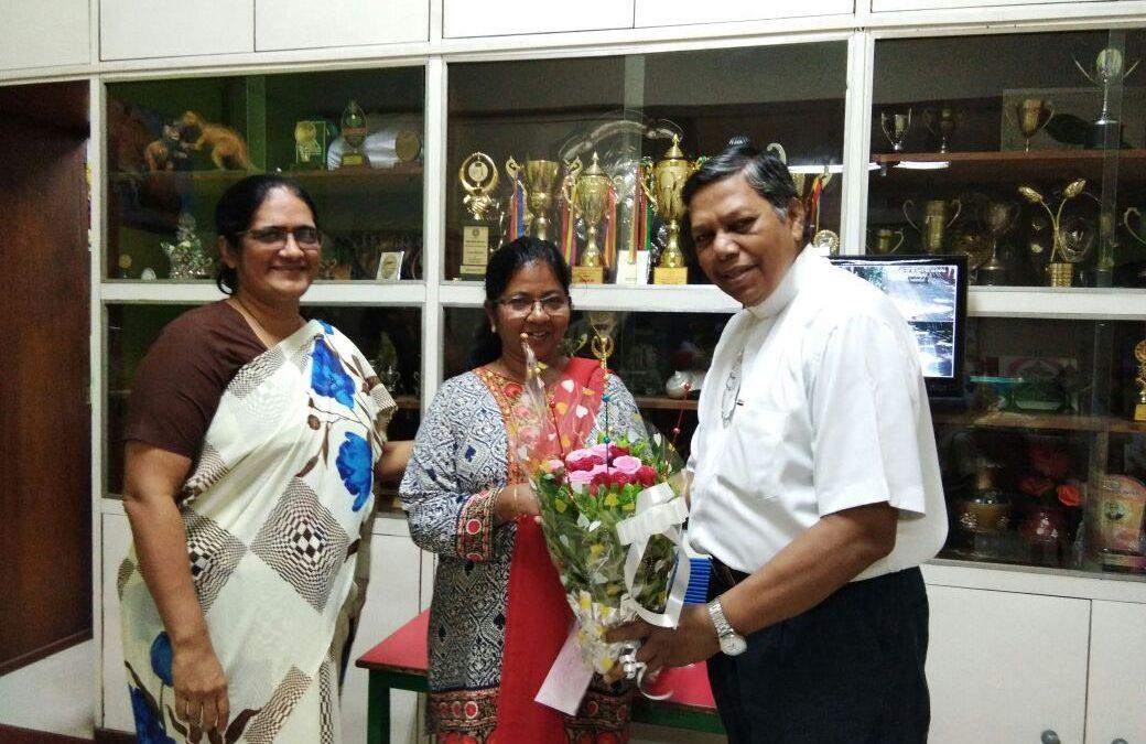 Birthday Celebration Of Headmistress Teacher Plassy Braganza.