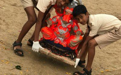 Beach cleaning activity after Ganesh visarjan