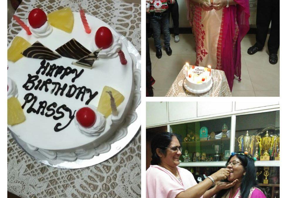 Birthday Celebration Of Primary HeadmistressMrs. Plassy Braganza.